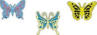 CL Doilymal DL 112 Exotic Butterflies small