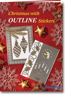 Christmis with outline stickers