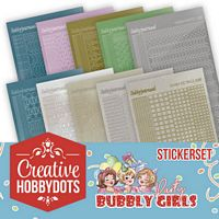 Creative Hobbydots boekje 01 Bubbly Girls Sticker set