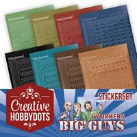 Creative Hobbydots boekje 02 Big Guys Workers Sticker set