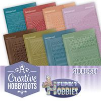 Creative Hobbydots boekje 09 Funky Hobbies stickerset