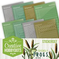 Creative Hobbydots boekje 10 Friendly Frogs Stickerset
