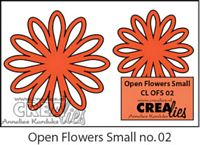 Crealies Open Flowers no 02 klein