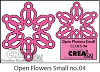 Crealies Open Flowers no 04 klein