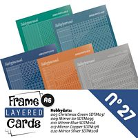 Frame layered Cards boek LCA610027 stickerset