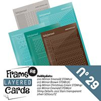 Frame layered Cards boek LCA610029 stickerset