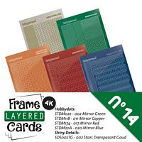Frame layered Cards boek LC4K10014 stickerset