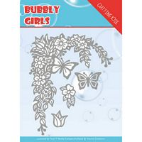 Die Yvonne creations YCD10167 Bubbly girls Flower corner
